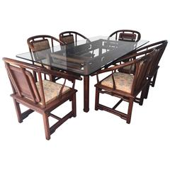 Dining Set in the Manner of James Mont, USA, circa 1960