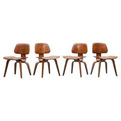 Set of Four Charles & Ray Eames DCW Chairs 'B'