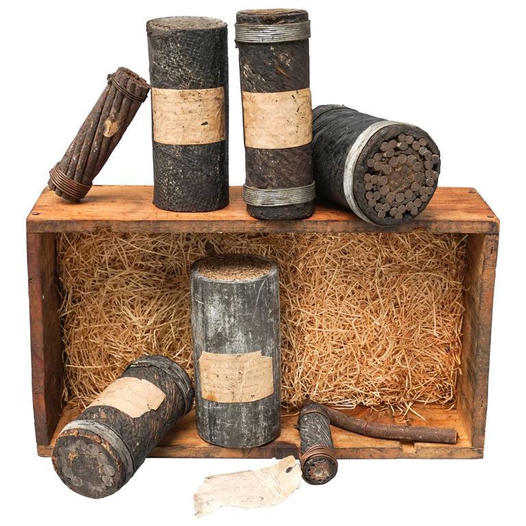 Set of 19th Century Pieces of Transatlantic Telegraph ...  Set of 19th Cen...