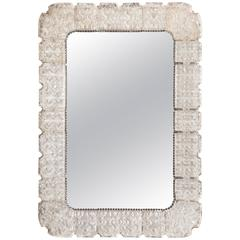 Carl Fagerlund for Orrefors, Large Swedish Glass Framed Mirror