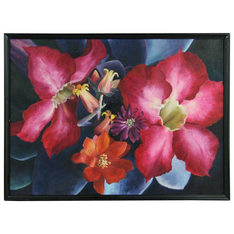 'Red Iris'  Oil Painting