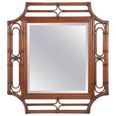 Bamboo Mirror in a Regency Style