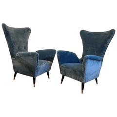 Pair of Lounge Chairs by I.S.A, Italy, circa 1950