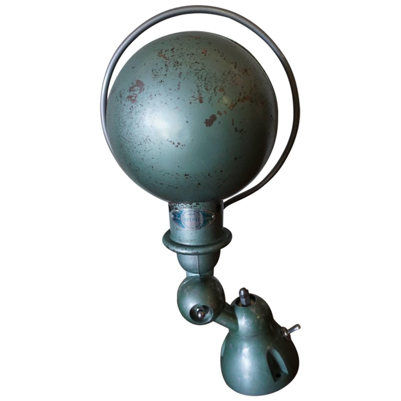 Green Industrial French Wall Light By Jean-Louis Domecq