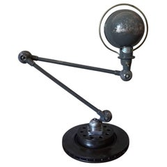 Grey Industrial Articulated Desk Lamp from Jielde, 1950s