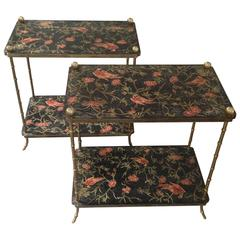 Pair of Italian Lacquered Side Tables