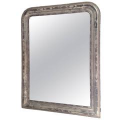 French Charles 'X' Silver Leaf Mirror
