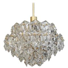OTT International Brass and Crystal Chandelier