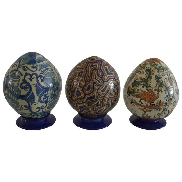 Mexican Colorful Ceramic Talavera Decoration Eggs For Sale