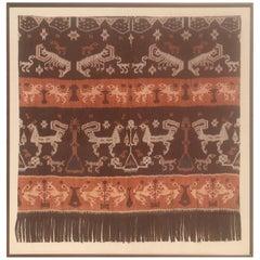 19th Century Framed Indonesian Ikat Art from Steve Chase Palm Springs Estate