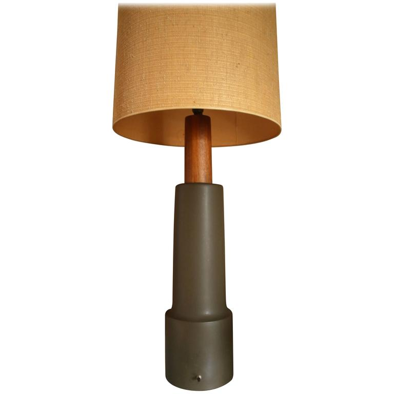 Monumental Martz Pottery Table Floor Lamp For Sale