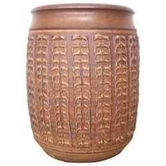 Large Stoneware Bob Kinzie Planter Pot