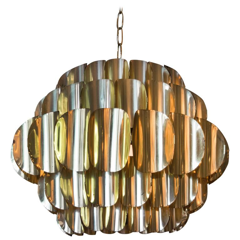 Five Ring Brass Pendant Light By Hans Agne Jakobsson For