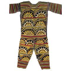 African Igbo Appliqued Fabric Dance Costume