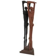 """Richard Faralla """"Double Man"""" Sculpture"""