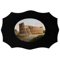 19th Century Micro Mosaic Slate Plaque