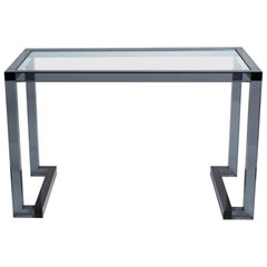 Smoked Lucite Console or Desk