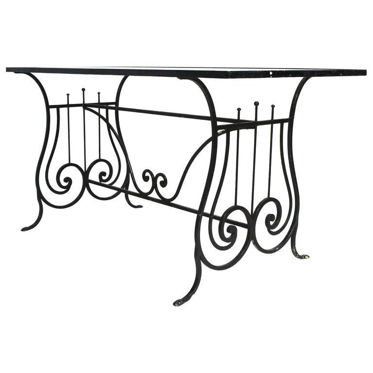 Iron Lyre Garden Table