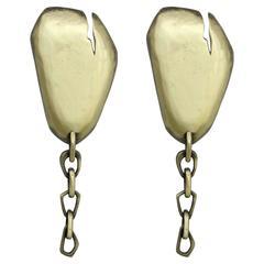 Hammered Brass Starburst Chandelier From Europe For Sale