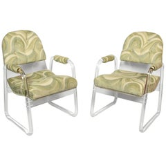 Pair of Lucite Lounge Chairs Hill Industries , circa 1970