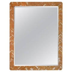 Herringbone Pattern Bone Mirror