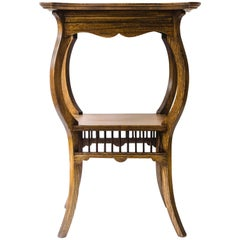 E W Godwin, attributed. An Ash Arts and Crafts Anglo-Japanese Side Table