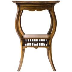 Arts and Crafts Anglo-Japanese Side Table Attributed to E W Godwin