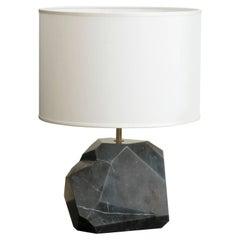 """Monolite"" Flair Edition Mat Black Marquinia Marble Lamp"