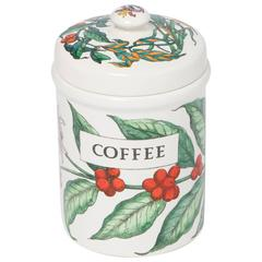 Piero Fornasetti porcelain coffee jar with cover, Italy circa 1960