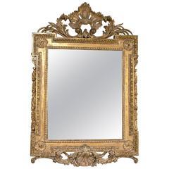 18th Century Hand-Carved Palladian Mirror