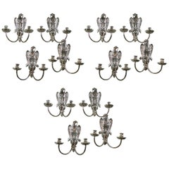 Set of 12 1920 Caldwell Federal Silver Plated Sconces