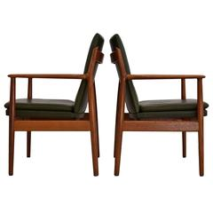 Arne Vodder 1950s Teak and Leather Armchair for Sibast, Denmark