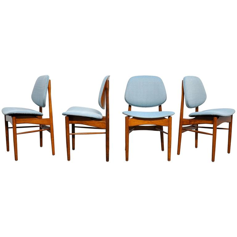 Set of Four Teak Dining Chairs, Attributed to Finn Juhl For Sale