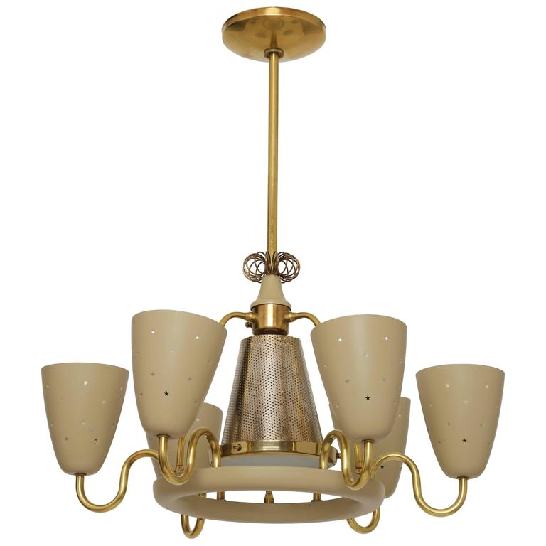 Lightolier Ring Chandelier At 1stdibs: Lightolier Chandelier In The Style Of Paavo Tynell For