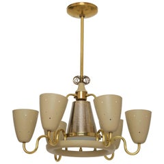 Lightolier Chandelier in the Style of Paavo Tynell
