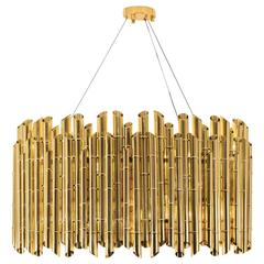 Bamboo Suspension in Glossy Brass