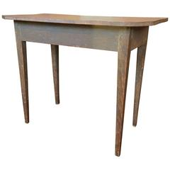 19th Century Side Table with Oblique Cut Corners