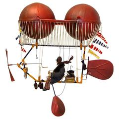 """""""L'Adventure"""" Kinetic Mobile by Claudia Marchesin & Serge Reynaud, 1989"""