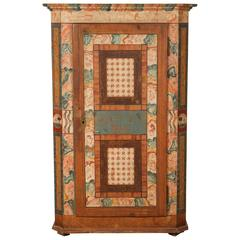 Folk Style Hand-Painted Cabinet