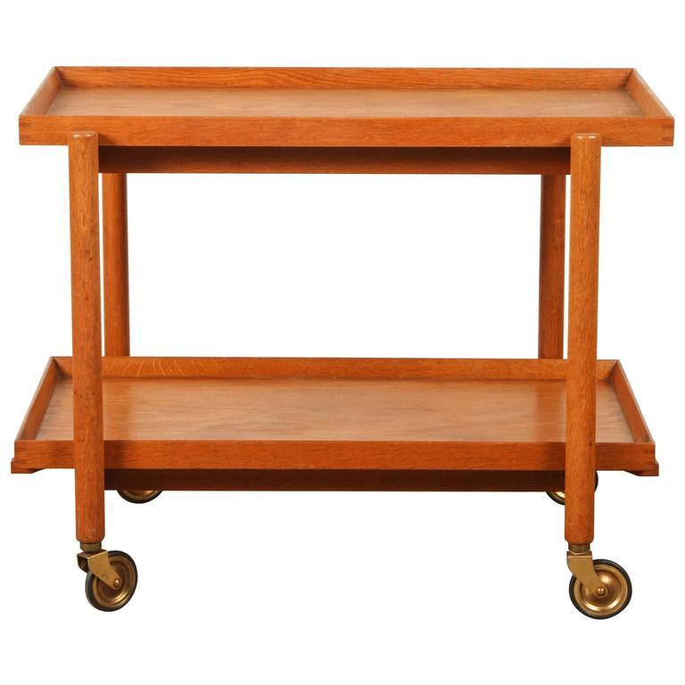 Mid-Century Teak Danish Bar Cart For Sale