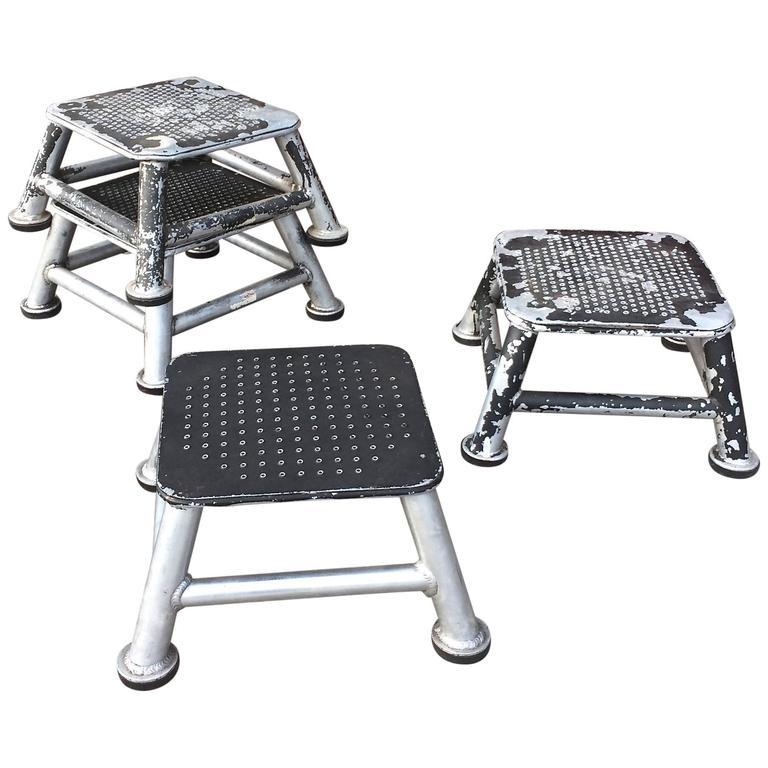 Industrial Aluminum Train Station Step Stools At 1stdibs