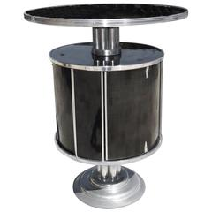 """Art Deco """"Roto-Bar"""" Revolving Cocktail Cabinet and Table"""