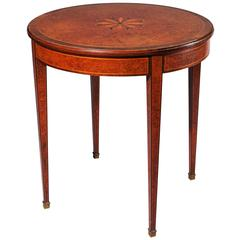 19th Century French Burr Yew Occasional Table