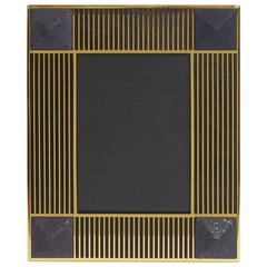 "Pyramid Black Shagreen Gold-Plated Photo Frame for 5"" x 7"" by Fabio Ltd"