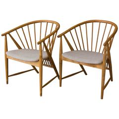Pair of 'Sun Feather' Armchairs by Sonna Rosen