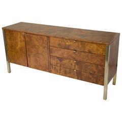 Tomlinson Burlwood Credenza or Sideboard with Brass Details