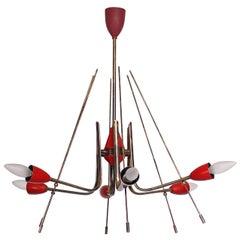 Mid-Century Modern Italian Sputnik Chandelier