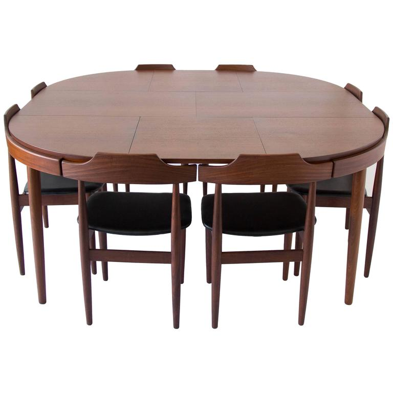 Eight seat dining set by hans olsen for frem rojle for for 10 seater dining room table for sale