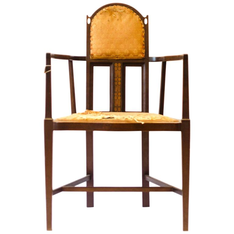 Arts & Crafts Armchair by G. M. Ellwood and J. S. Henry