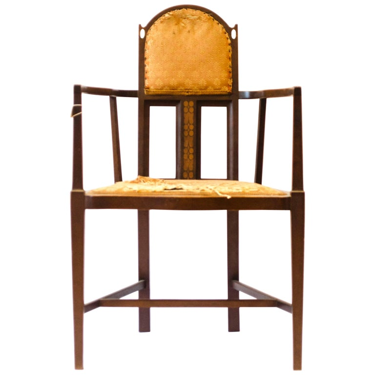 Arts & Crafts Armchair by G. M. Ellwood and J. S. Henry For Sale
